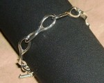 sterling silver link bracelet 08 c marshall hansen