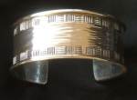 Sterling silver large hammered cuff bracelet 03 c MHD